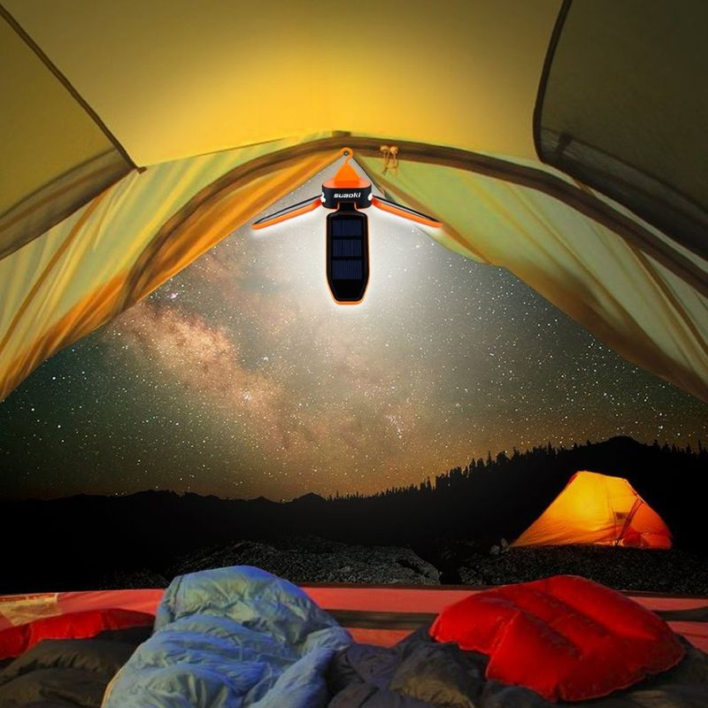 Collapsible Solar Panel Lanterns Camping Light