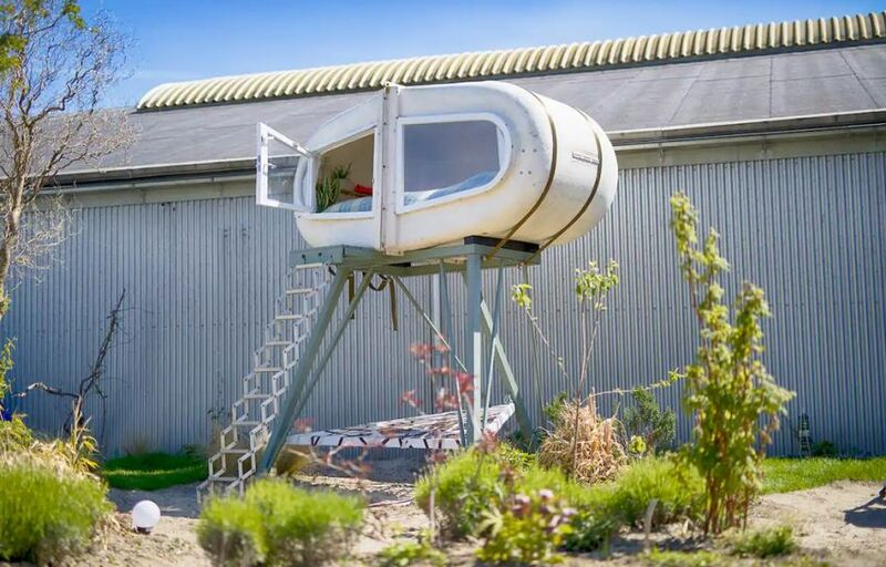 Elevated Upcycled Camping Pods