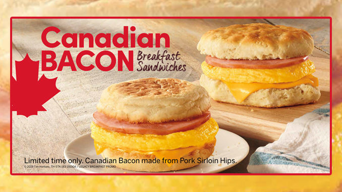 Canadian Bacon Breakfast Sandwiches