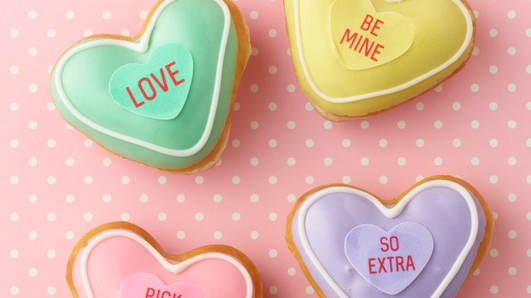 Candy Conversation Heart Donuts