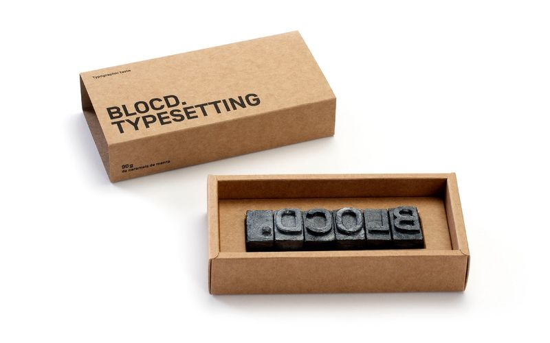 Letterpress Block Candies