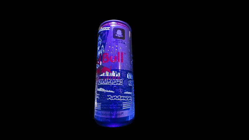 UV-Activated Energy Drink Cans