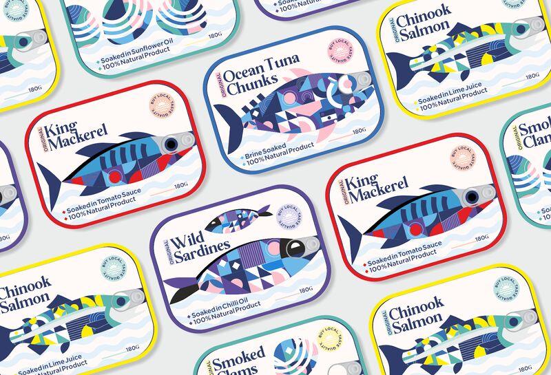 Chromatic Artistry Seafood Branding