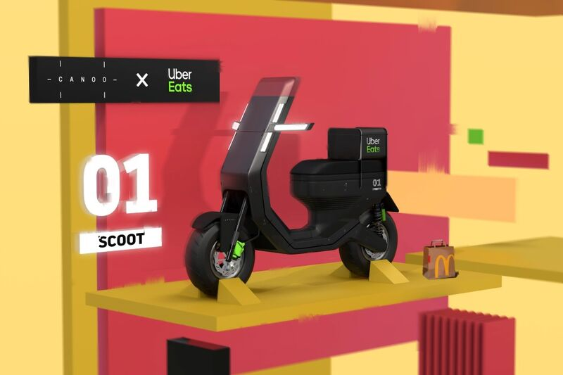 Food Delivery Scooter Designs