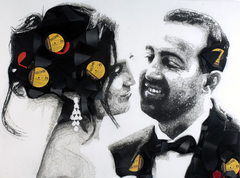 Vinyl-Based Couple Portraits