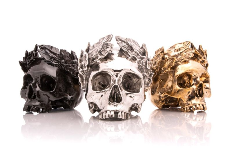 Metal Skull-Like Sculptures