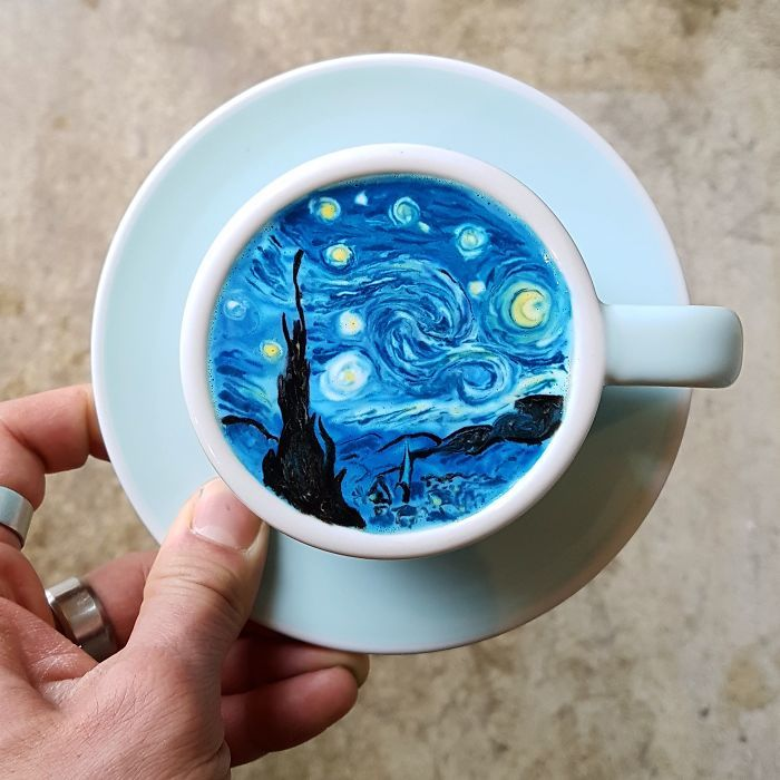 Classic Painting Coffee Artwork