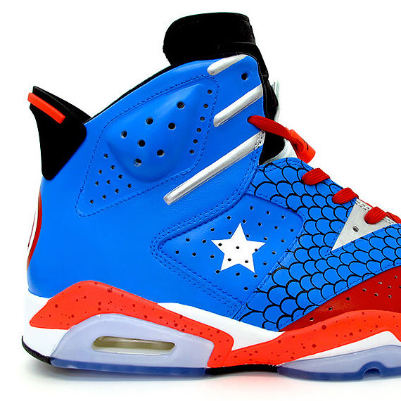 Patriotic Avenger-Inspired Footwear