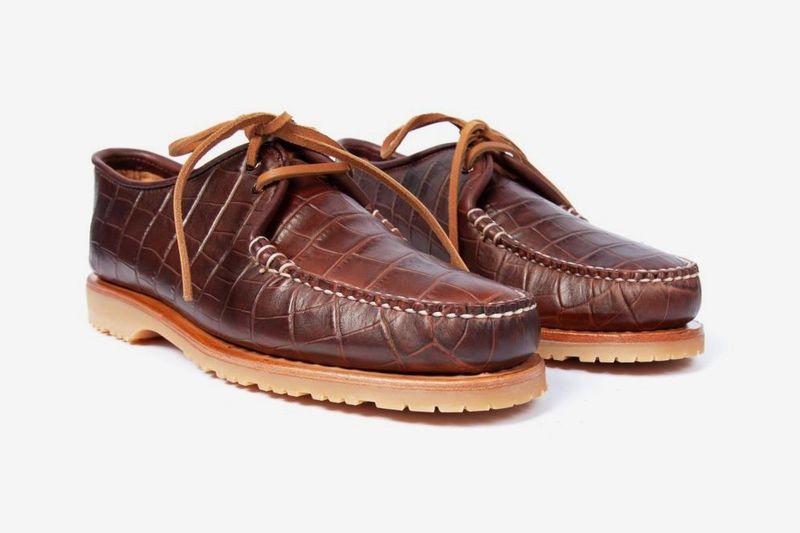 Faux Croc-Skin Shoes