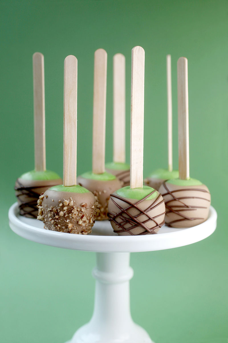 Candy Apple Cake Pops