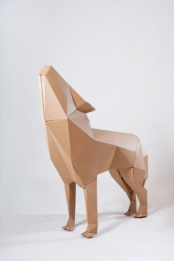 Geometric Cardboard Sculptures