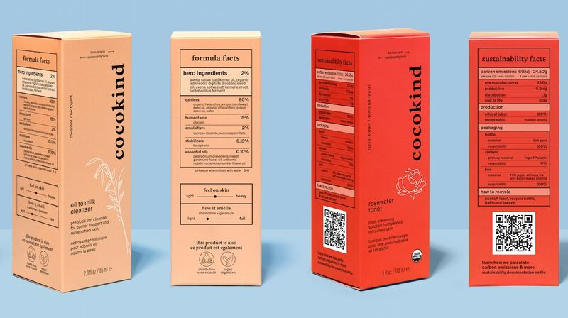 Carbon Footprint Beauty Labels