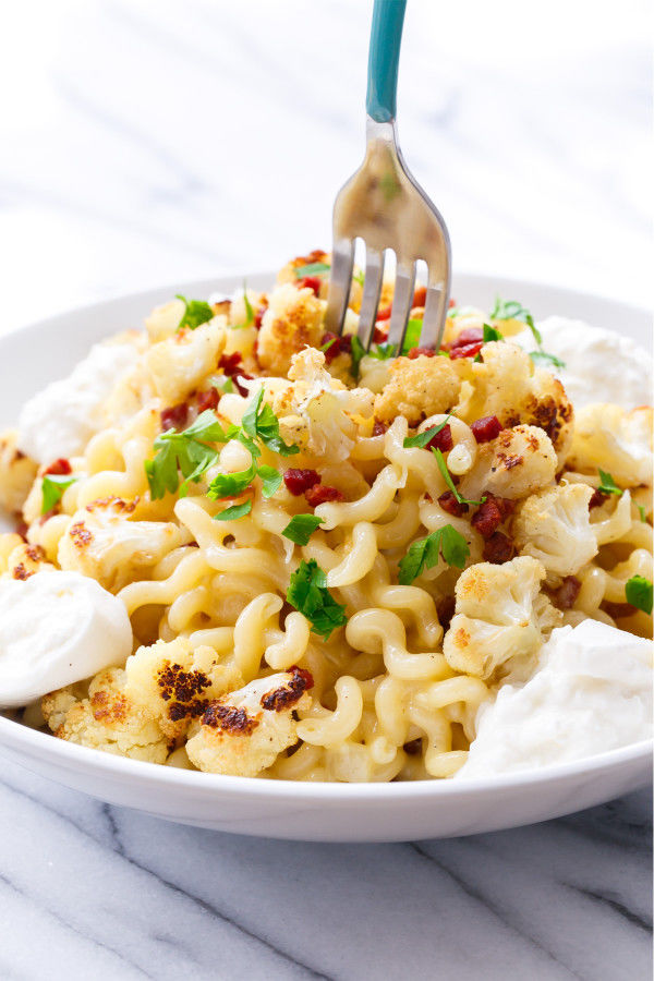 Cauliflower Carbonara Pastas