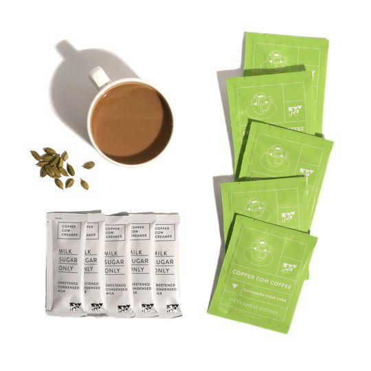 Single-Serve Cardamom Lattes