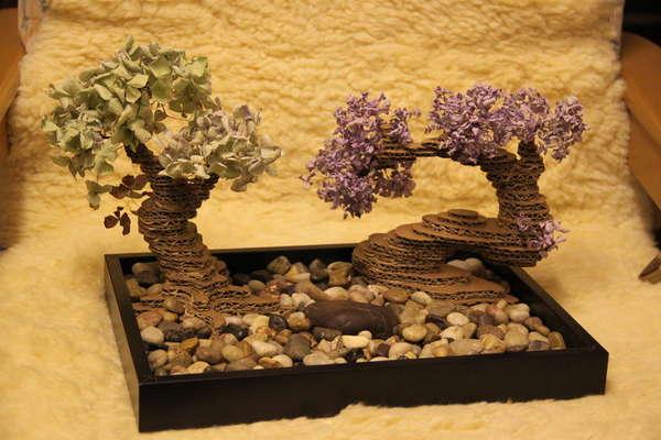 Diy Zen Gardens Cardboard Bonsai Tree