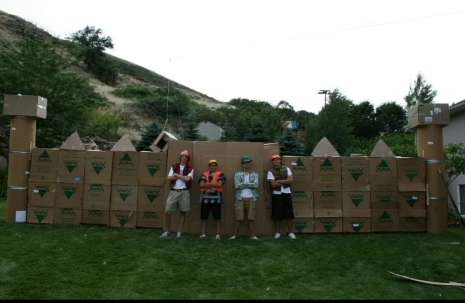 Cardboard Castles Four Guys Create A Fort Fit For Do It