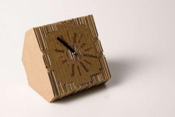 DIY Cardboard Clocks