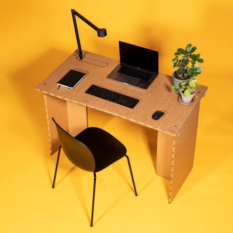 Work-from-Home Cardboard Desks