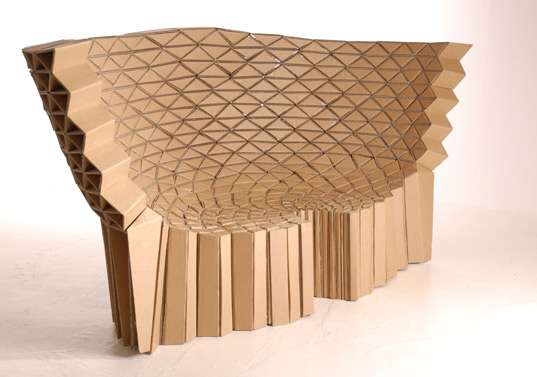 Geometric Cardboard Seats
