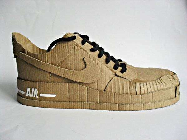 Paper Running Sneakers : Cardboard Nike Air Shoes