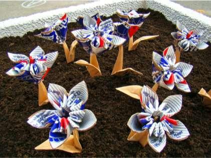 Garbage Origami Gardens