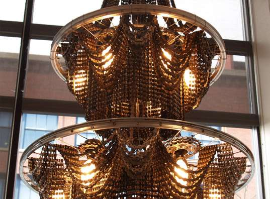 Upcycled Bike Chandeliers
