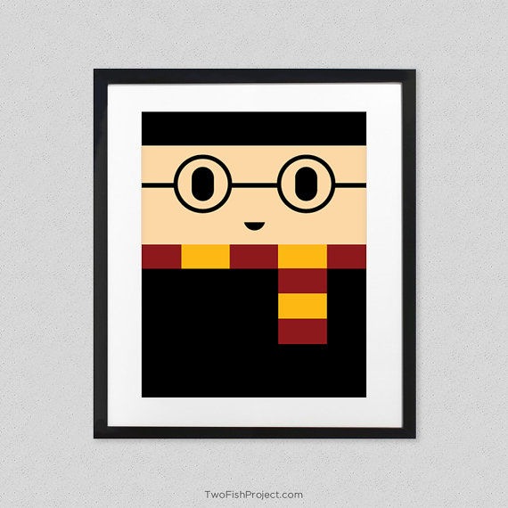 Cartoon Block Art Posters