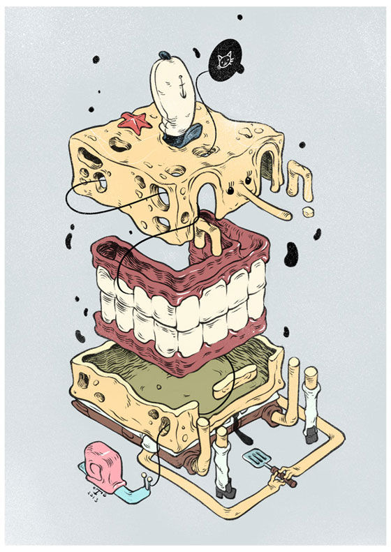 Dissected Cartoon Illustrations