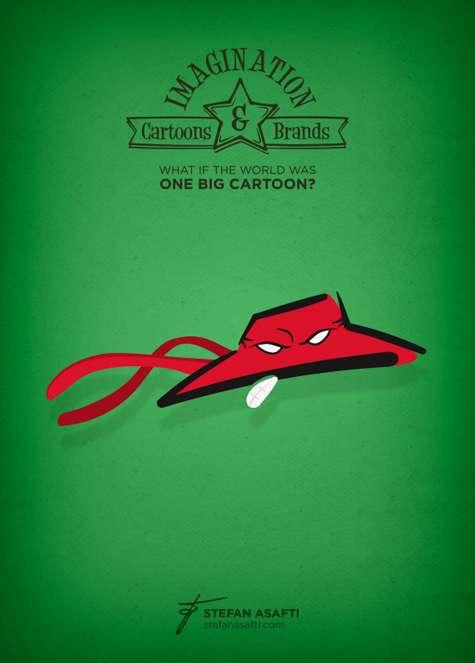 Cartoon Character Logo Mashups