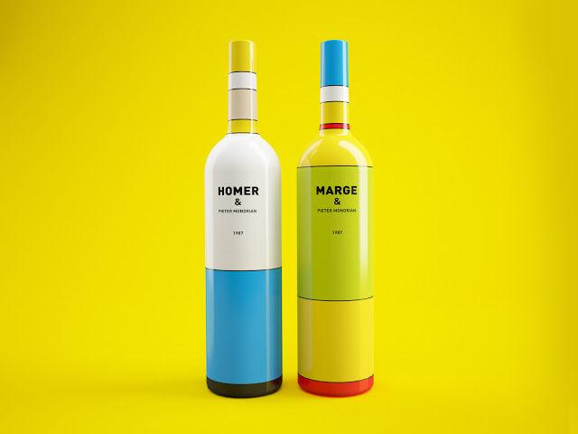 Cartoony Wine Bottles