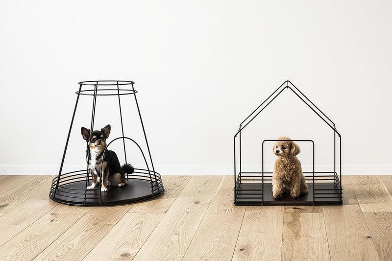 Ultra-Minimal Skeletal Dog Houses