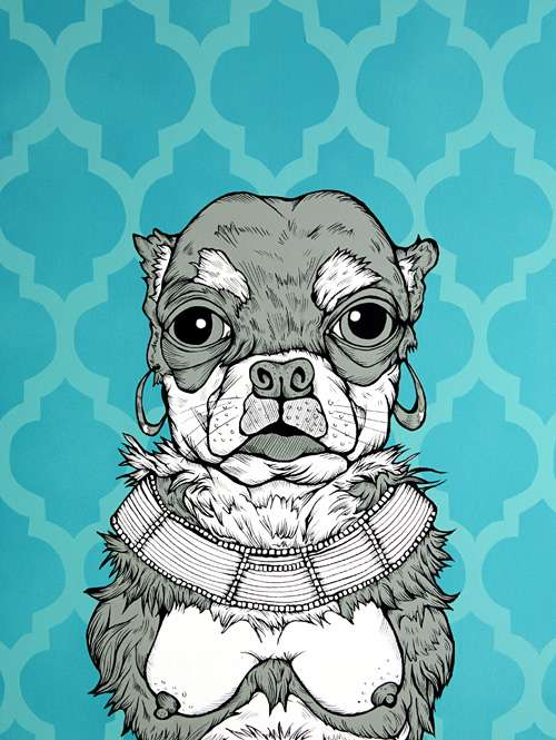 Canine Companion Caricatures