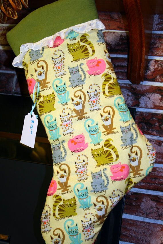 Colorful Cat Christmas Stockings