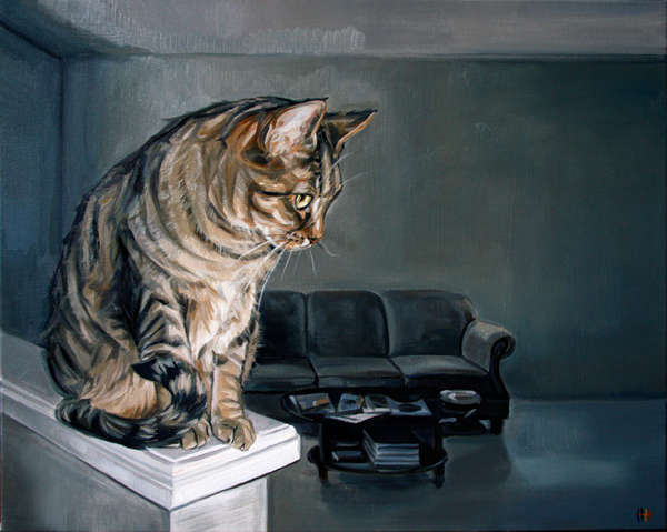 Commissioned Oil Cat Paintings