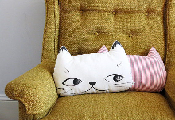 Feline Face Pillows