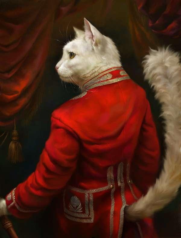 Chivalrous Feline Paintings