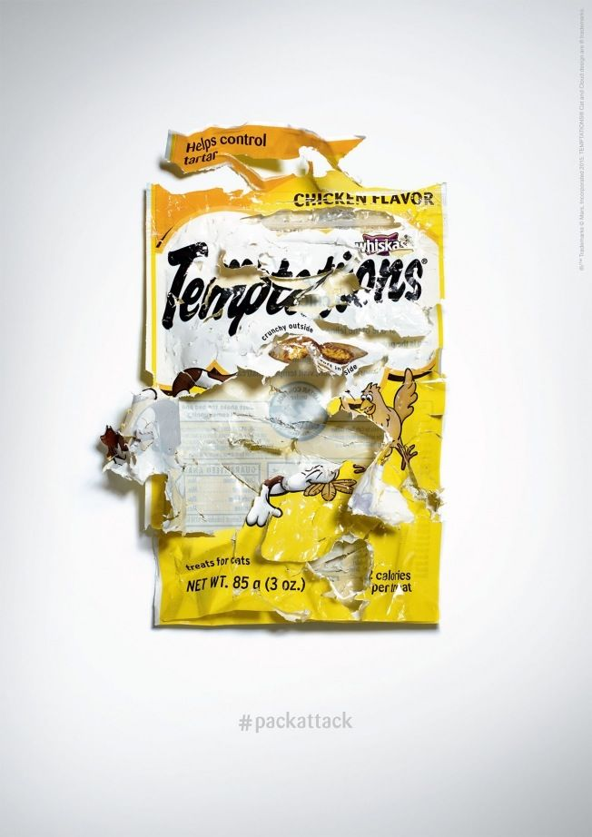 Torn Cat Treat Ads
