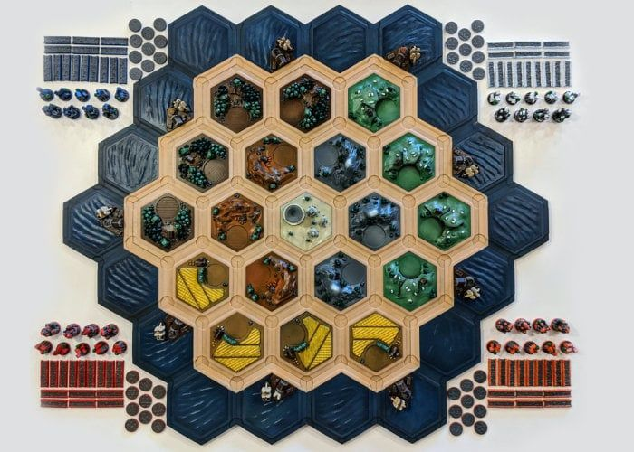 3D-Printed Tabletop Game Boards