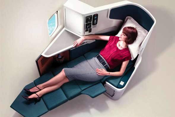 Secluded Airline Seating Ads