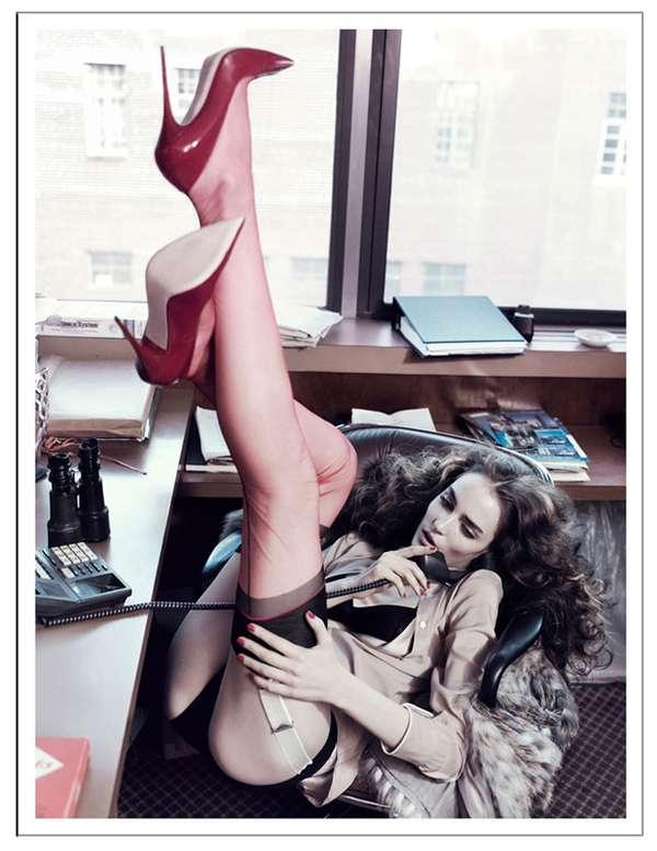 Seductive Secretary Photoshoots