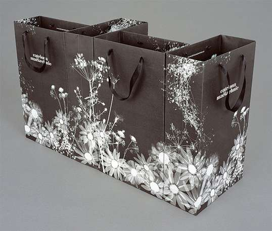Floral X-Ray Shopping Bags