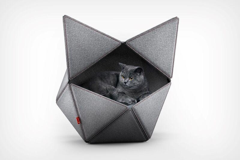 Minimalist Geometric Feline Beds