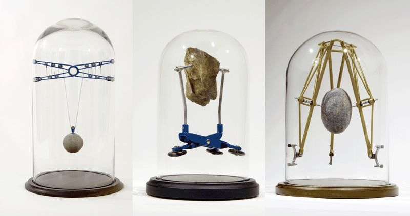 Mechanical Self-Suspended Sculptures