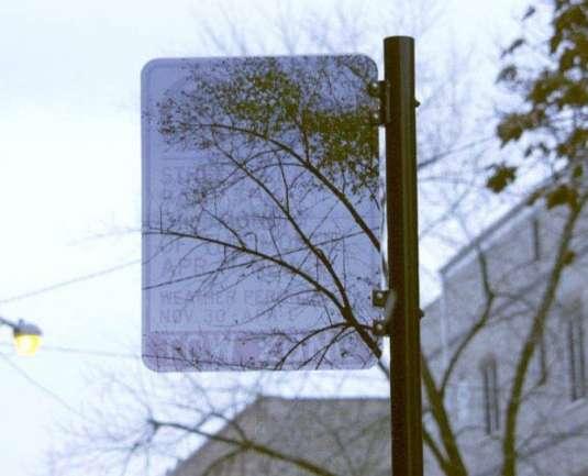 Transparent Street Signs