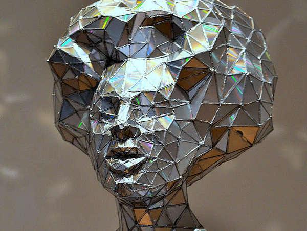 Crystalline Disc Shard Sculptures
