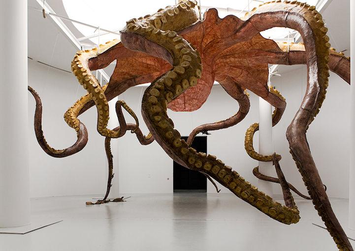 Gargantuan Marine Ceiling Sculptures