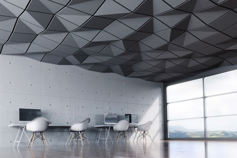 Geometrically Textured Ceiling Tiles
