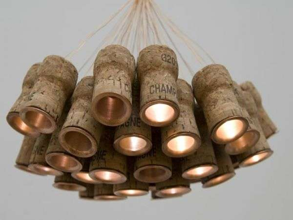 Champagne Cork Lighting Celebration Chandelier