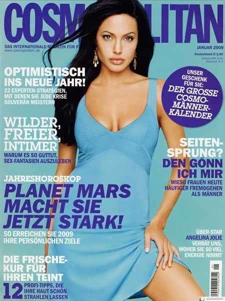 Jolie Magazine November 2017 Issue: Ice-Blue Covers: Angelina Jolie Kicks Off Cosmopolitan's