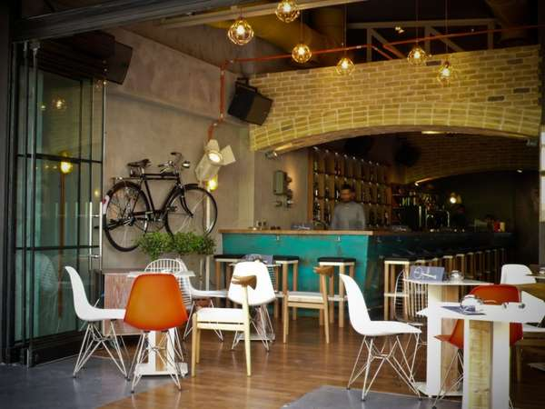 Bikes As Wall Art Cello Bar By Lime Studio